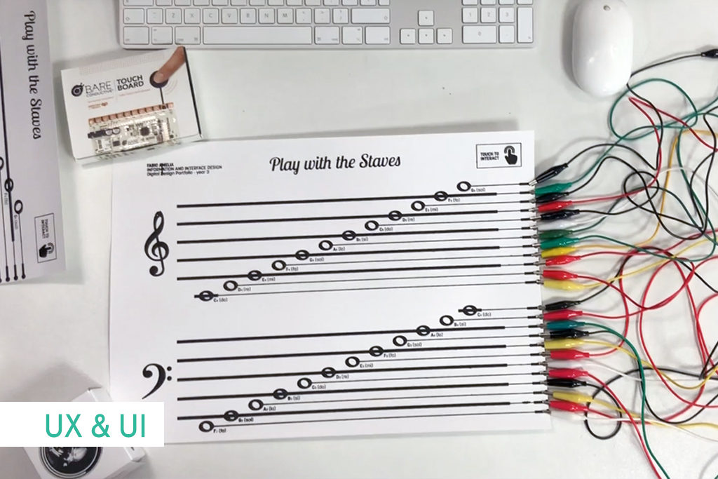 Music Score with Conductive Ink